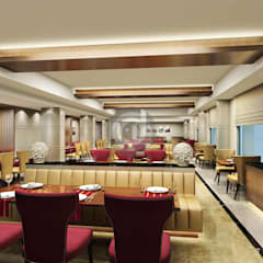 Restaurants 3D Visualized image:  Hotels by Designers Gang,Modern