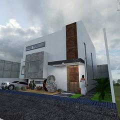 منزل بنغالي تنفيذ Arquitectura Tiempo & Espacio , تبسيطي حجر