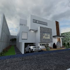 منزل بنغالي تنفيذ Arquitectura Tiempo & Espacio , تبسيطي خشب Wood effect