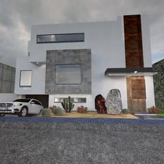 منزل بنغالي تنفيذ Arquitectura Tiempo & Espacio , تبسيطي أسمنت