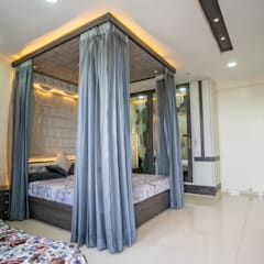 Small bedroom by Nabh Design & Associates, Modern Engineered Wood Transparent