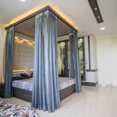 Stylish Home by Nabh Design & Associates:  Small bedroom by Nabh Design & Associates,Modern Engineered Wood Transparent
