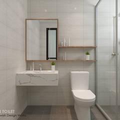 Buangkok Link:  Bathroom by Swish Design Works,Modern Plywood