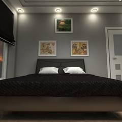 bilen proje – VADİ YAŞAM EVLERİ:  tarz Yatak Odası, Rustik
