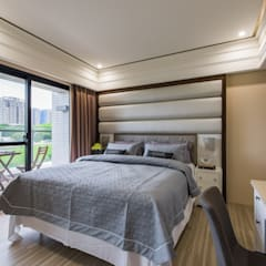 Small bedroom by 你你空間設計, Modern Wood-Plastic Composite