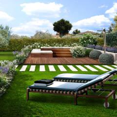 Jardines en la fachada de estilo  por Adriana Pedrotti -Verde Progetto, Mediterráneo