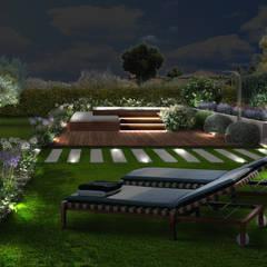 Adriana Pedrotti -Verde Progetto의  정원 연못, 지중해