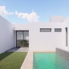 Refacción y ampliación CASA BC Jardines minimalistas de ARBOL Arquitectos Minimalista