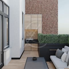 Small Apartment Renovation:  Balcony by Comelite Architecture, Structure and Interior Design , Modern