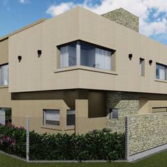 Casa CERRITO Casas rústicas de Marina Alvear Arquitecta Rústico