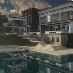Casa Bitaco: Casas campestres de estilo  por ACE Arquitectura Diseño y Construcción, Moderno Concreto