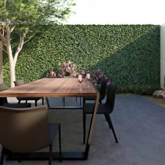 Industrial style garden by VETA taller creativo Industrial