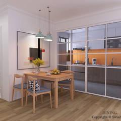 Sumang Lane:  Dining room by Swish Design Works,Modern Plywood