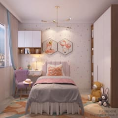 Sumang Lane:  Small bedroom by Swish Design Works,Modern Plywood