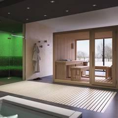 Sauna by IGAN STYLE SRL, Modern Wood Wood effect