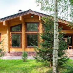Hipped roof by Holzhaus Archiline, Modern لکڑی Wood effect