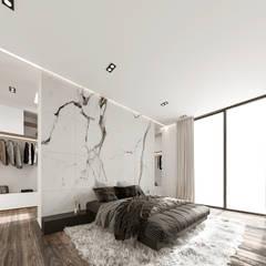 Impactante diseño de residencia moderna: Recámaras de estilo  por Rebora, Moderno Mármol