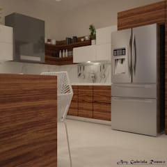 Built-in kitchens by arq.Gabriela R/ Construyendo Espacios, Mediterranean