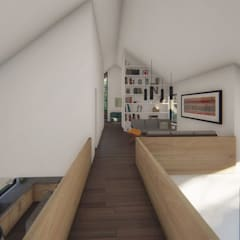 Pasillos, vestíbulos y escaleras de estilo moderno de Soc. Constructora Cavent Spa Moderno