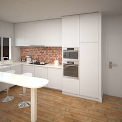 Built-in kitchens by ARQUIJOVEN SLP, Eclectic Bricks