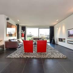 villa // Zwaagdijk Moderne woonkamers van Studio FLORIS Modern Leisteen