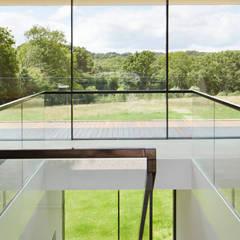 poldervilla // Almere Moderne gangen, hallen & trappenhuizen van Studio FLORIS Modern Glas