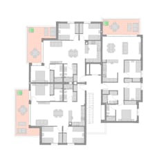 ARQUIJOVEN SLPが手掛けた二世帯住宅, 地中海