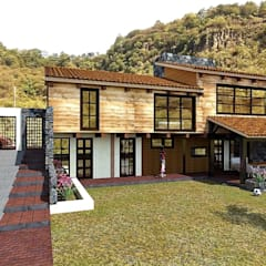 كوخ تنفيذ MARQ. Arquitectos., ريفي خشب Wood effect