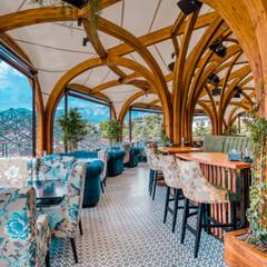 Scandinavische balkons, veranda's en terrassen van Alpbau Scandinavisch Hout Hout