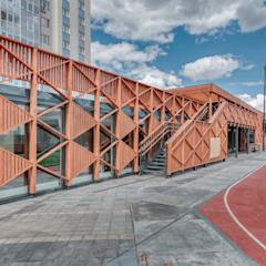 Shopping Centres by Alpbau, Scandinavian Wood Wood effect