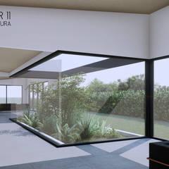 Casa 6: Jardines de estilo  por Taller Once Arquitectura, Minimalista