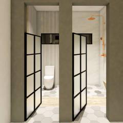 Baño Industrial - Europeo: Baños de estilo  por A.DESIGN, Industrial