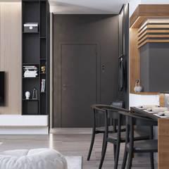 Дизайн-проект 2-к комнатной квартиры в современном стиле: Столовые комнаты в . Автор – Изидизи, Минимализм
