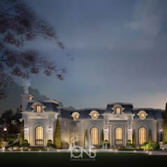 Luxurious Home Design Collection : Majestic Mansion in French Architecture Style:  Houses by IONS DESIGN, Classic Stone