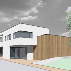 watervilla  //  Nieuwkoop:  Passiefhuis door Studio FLORIS, Modern Aluminium / Zink
