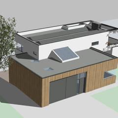 watervilla  //  Nieuwkoop:  Passiefhuis door Studio FLORIS, Modern Hout Hout