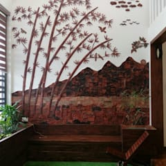 Rustic style corridor, hallway & stairs by Yuvarti Craft Rustic Ceramic