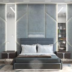 Спальня сына: диктат геометрии: Спальни в . Автор – Студия Luxury Antonovich Design, Эклектичный