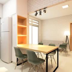 Cocinas pequeñas de estilo  por Beiral - Estudio de Arquitetura, Industrial