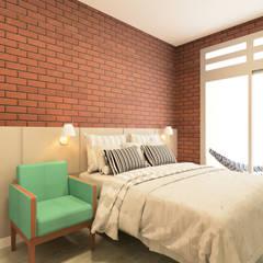 Beiral - Estudio de Arquitetura의  작은 침실, 인더스트리얼