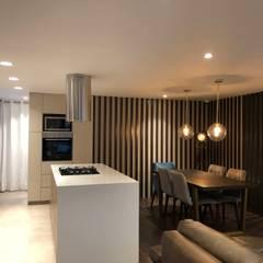 Apartamento AGS de entrearquitectosestudio Moderno Cuarzo