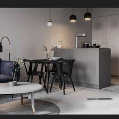 Projekty,  Małe kuchnie zaprojektowane przez mo estudio, Skandynawski