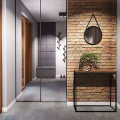 Pasillos, vestíbulos y escaleras industriales de IN studio projektowania wnętrz Industrial
