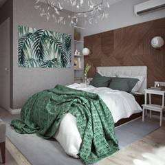 Небольшая квартира в современном стиле Спальня в эклектичном стиле от Физ. Лицо Эклектичный