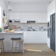 Rumah Tinggal : Unit dapur oleh Arudate Design, Modern Kayu Lapis