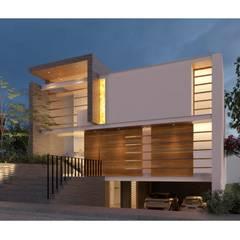 Дома на одну семью в . Автор – de Silva Arquitectos, Минимализм Дерево Эффект древесины