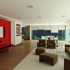 Departamentos Polanco: Pasillos y recibidores de estilo  por DARC Arquitectura, Ecléctico