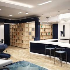 (شقق فندقية ) .......... البيت الابيض :  فنادق تنفيذ AKYAN, حداثي خشب نقي  Multicolored
