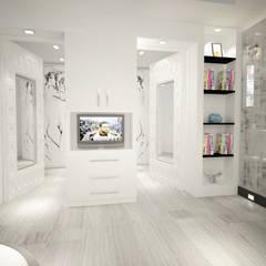 (شقق فندقية ) .......... البيت الابيض :  فنادق تنفيذ AKYAN, حداثي خشب معالج Transparent