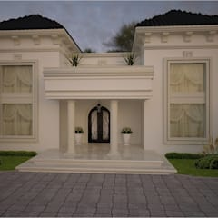 CASA CLASICA: Casas de estilo  por HHRG ARQUITECTOS, Clásico